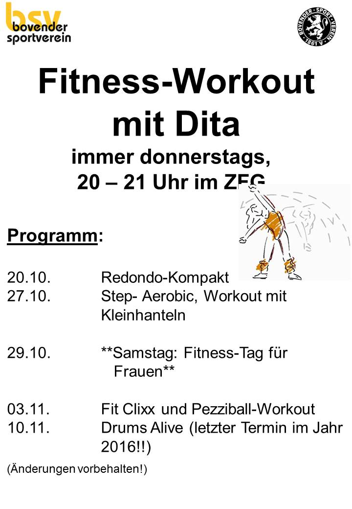 Fitness Workout mit Dita 4 2016